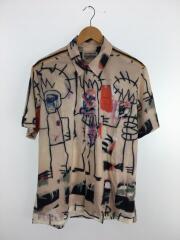 半袖シャツ/M/レーヨン/マルチカラー/総柄/jean michel basquiat