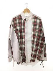 TARTAN CHECK BIG SHIRT/FNT-SH-U01/長袖シャツ/--/コットン/WHT/チェック