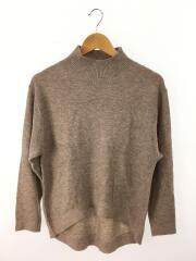 セーター(薄手)/ニット/ハイネック/ヘム/M/ポリエステル/BRW/212-595412