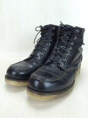 チペワ/ブーツ/US8/ブラック/レザー/90215