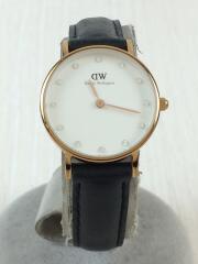 ダニエルウェリントン/クォーツ腕時計/アナログ/レザー/ホワイト/白/ブラック/黒/0900DW