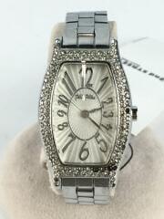 フォリフォリ/クォーツ腕時計/アナログ/ステンレス/ホワイト/白/シルバー/WF5T084BPS