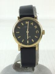 マークバイマークジェイコブス/クォーツ腕時計/アナログ/レザー/ブラック/黒/MBM1273