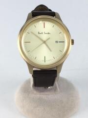 ポールスミス/クォーツ腕時計/アナログ/レザー/ゴールド/ブラウン/2510-T023339