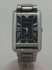 クォーツ腕時計/アナログ/ステンレス/BLK/SLV/AR-1608