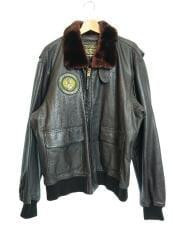 G-1/55周年/レザージャケット・ブルゾン/XL/牛革/BRW/MIL-J-7823