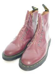 サイドジップレザーブーツ/LACELESS/箱付/ブーツ/US8/BRD/レザー/245555601