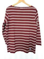 40/2/STRIPEボートネック/タグ付/未使用品長袖Tシャツ/4/コットン/BRW/RC6882