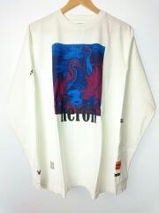 LS HERONS RED&BLUE/タグ付/未使用品/長袖Tシャツ/S/コットン/WHT