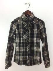 ウエストコード付きチェックネルシャツ/38/コットン/BLK/チェック/FEF51-539-09