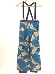 NOVELTY SCOOP PANT/タグ付/オーバーオール/150cm/ナイロン/BLU/総柄