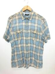 半袖シャツ/4/コットン/BLU/チェック/D1M01-200-22