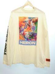 刺繍/プリント/長袖Tシャツ/S/コットン/WHT/HMAB013S20913021