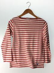 バスクシャツ/長袖Tシャツ/1/コットン/レッド/ボーダー/E19 952091