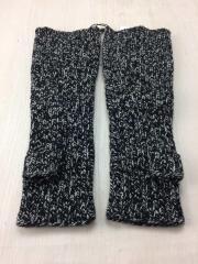 手袋/ウール/BLK/2214-055/ウールニットグローブ