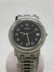 クォーツ腕時計/アナログ/ステンレス/BLK/SLV/CL6.710/クリッパー/2432091