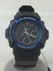 クォーツ腕時計・G-SHOCK/デジアナ/ラバー/BLK/BLK/AW-591-2AJF