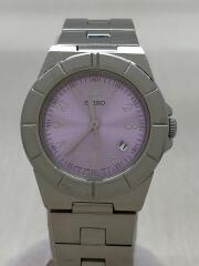 クォーツ腕時計/--/ステンレス/PNK/SLV