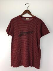 Tシャツ/XS/コットン/RED/ボーダー/19AW/穴空き有り/ダメージ有