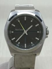 クォーツ腕時計/アナログ/ステンレス/GRY/GRY
