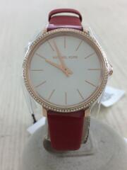 クォーツ腕時計/アナログ/レザー/MK-2869