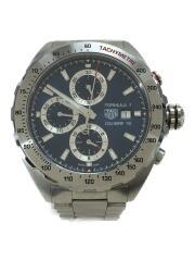 タグホイヤー/フォーミュラ1キャリバー16/自動巻腕時計/アナログ/ステンレス/NVY/中古/クロノグラフ FORMULA1  タキメーター