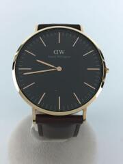 中古/ダニエルウェリントン/DW00100125/CLASSIC BRISTOL/クォーツ腕時計/ブラウン