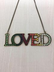 中古/17SS/THE LOVED ONES/Loved crystal-embellished necklace