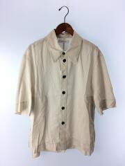 シャツジャケット/FREE/コットン×ポリエステル//BEG/AL987/ベージュ/裾ボックスカット/