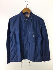 中古/20SS/AD2019/WE-B901/ジップシャツジャケット/XS/コットン/インディゴ/無地