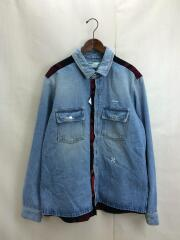 19SS/OMYD009R19386021/RECONSTRUCTED SHIRT/XL/デニムシャツ/ジャケット