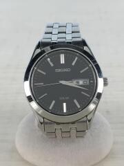 中古/V158-0AZ0/ソーラー腕時計/アナログ/ブラック/シルバー/セイコー
