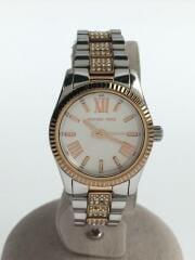 MK-3876/クォーツ腕時計/アナログ/ステンレス/ホワイト/シルバー/ラインストーン/エレガンス