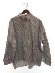 中古/20SS/LUZ2001304A0010/ワイドストライプシャツ/長袖シャツ/S/コットン/ブルー