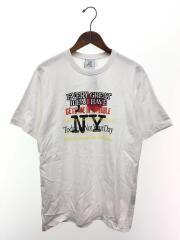 AUH19TR301/New York-print cotton T-shirt/Tシャツ/L/ホワイト/中古