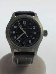 中古/カーキフィールド/クォーツ腕時計/H684812/アナログ/レザー/BLK/BLK