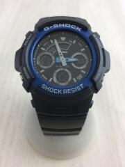 中古/AW-591-2AJF/クォーツ腕時計・G-SHOCK/ジーショック/デジアナ/ラバー/ブルー