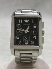 クォーツ腕時計/AR-0334/クロノグラフ/アナログ/ステンレス/BLK/SLV