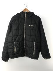 キュンブーグレイシャーハンティングパターンドジャケット/XL/ナイロン/BLK/袖口汚れ有