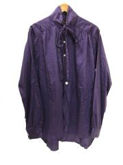 19FW/Ascot Collar EDW Gather Shirt/GL198/M/