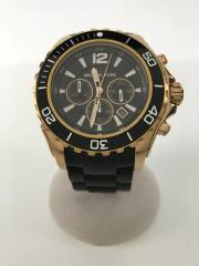 Black Everest/クォーツ腕時計/アナログ/ラバー/ホワイト/ブラック
