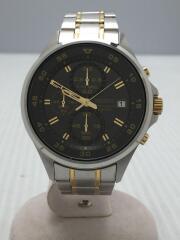 クォーツ腕時計/アナログ/ステンレス/BLK/SLV/4T57-00J0