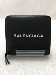 BALENCIAGA/490618/2つ折り財布/レザー/BLK