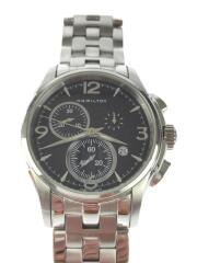 JAZZMASTER/クォーツ腕時計/アナログ/ブラック/シルバー/H326120