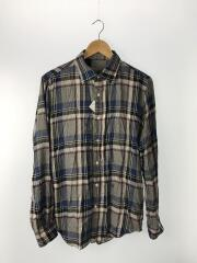 19AW/長袖シャツ/42/コットン/BLU/チェック
