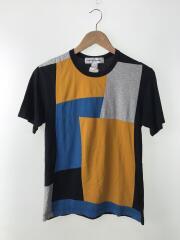 ブロッキング/Tシャツ/S/コットン/NVY