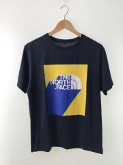 フロントプリント/Tシャツ/L/ポリエステル/NVY/無地