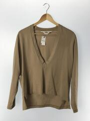 DEEP V-NECK PULL OVER/長袖Tシャツ/2/コットン/BEG
