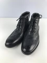 ウィングチップ/ブーツ/US9/BLK