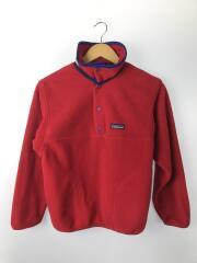 キッズ衣料/L/ポリエステル/RED/kids12/スナップT/フリースジャケット